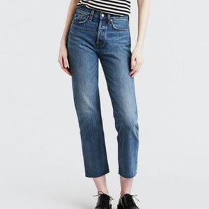 Levi's Wedgie Straight Blue Jeans